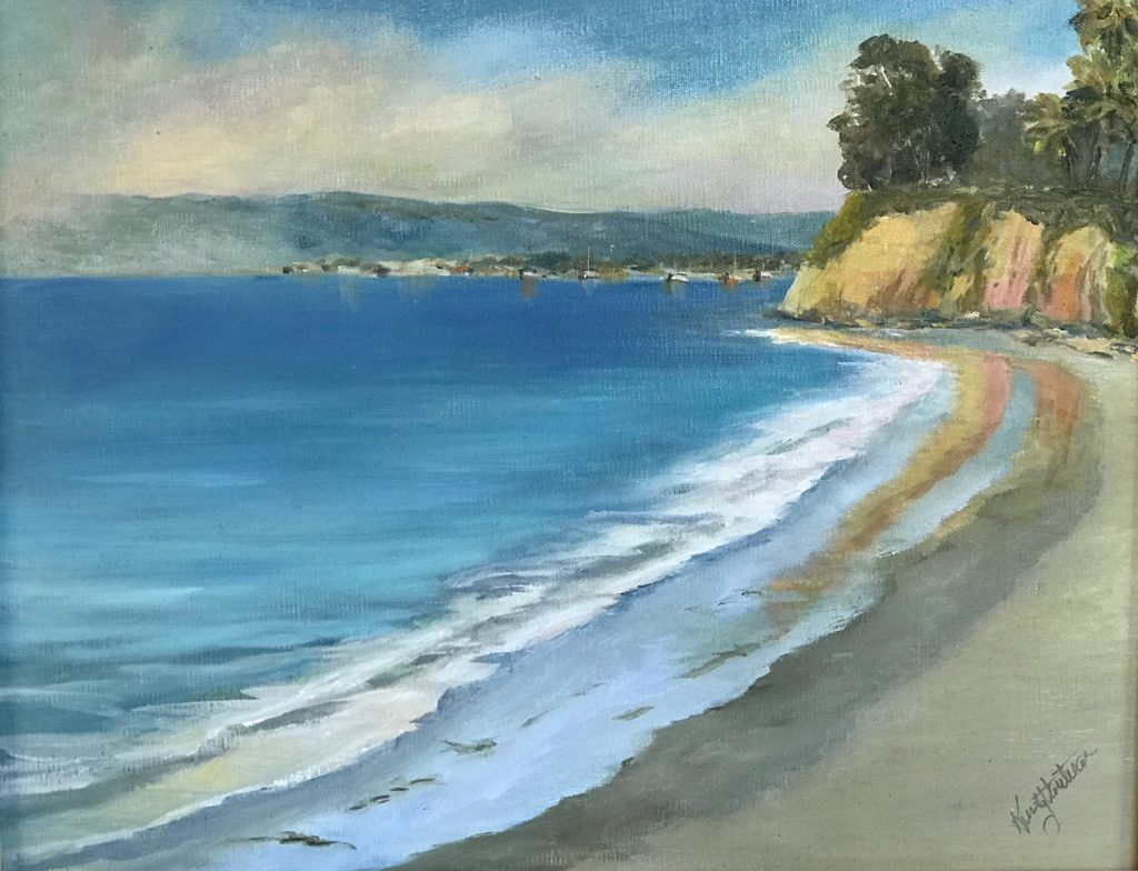 Looking North by Kristy Vantrease Oil 11x14
