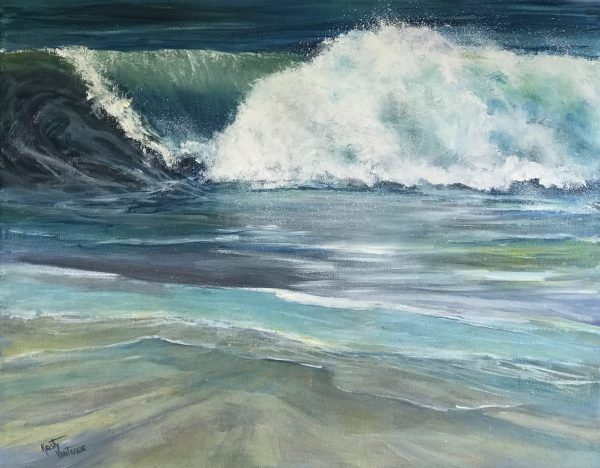 Incoming by Kristy Vantrease Oil 16x20