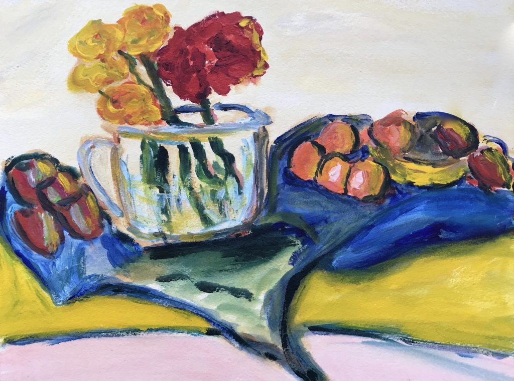Still Life With Flowers by Elizabeth Una Flanagan