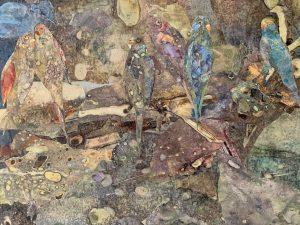 Joan Sharron, Des Oiseaux-MixedMediaCollage-16x20-2