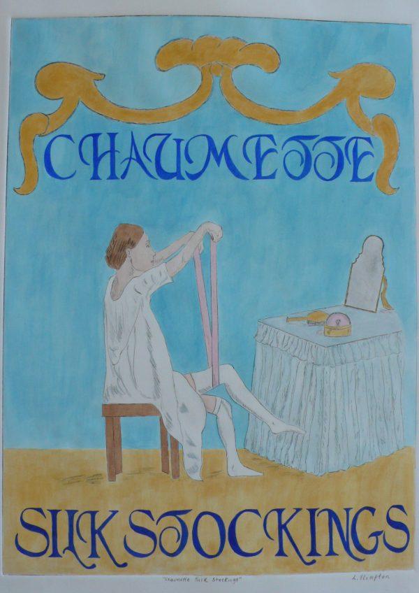 Leslie.Plimpton-Chaumette-Silk-Stockings-DryPointEtching24x18-1