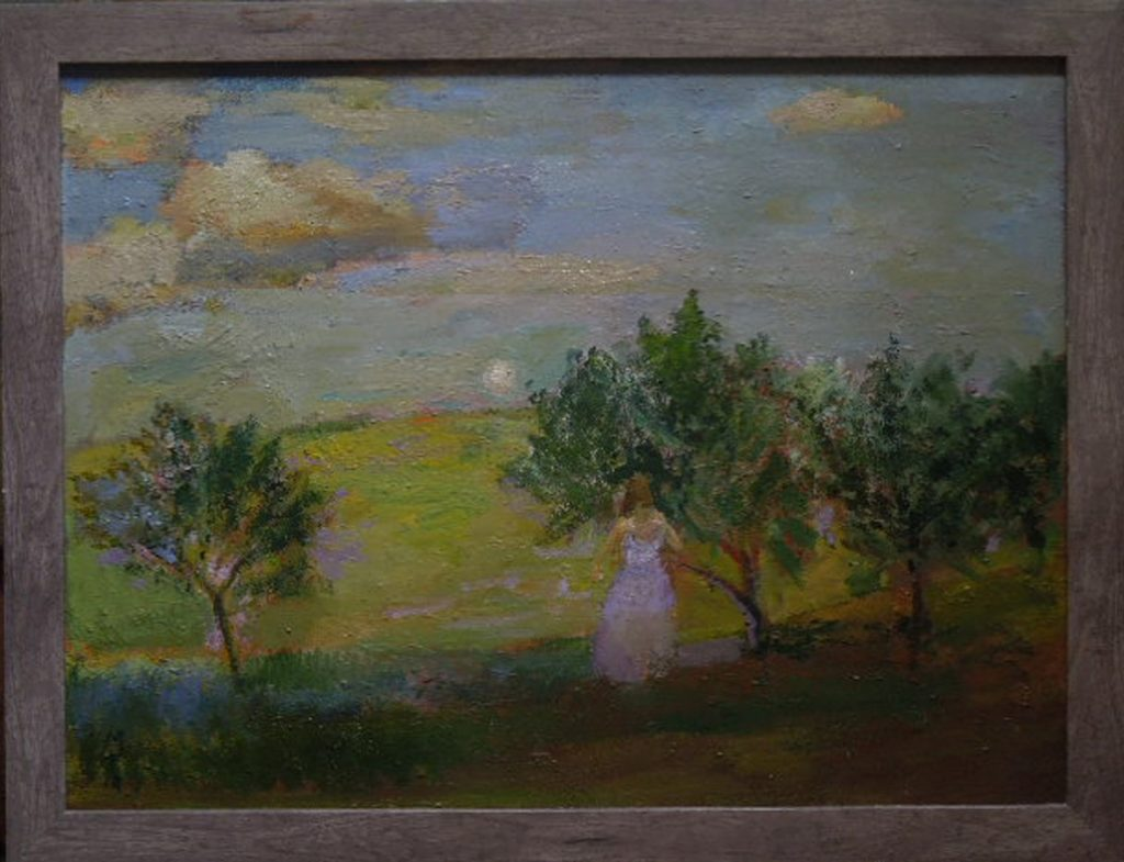 MalcolmTuffnell_Afternoon Moon and Orchard-Oil-18x24