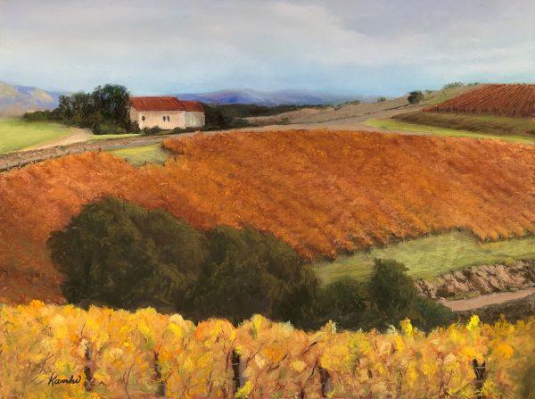 VirginiaKamhi_Autumn-Vineyard-pastel-11x14-2