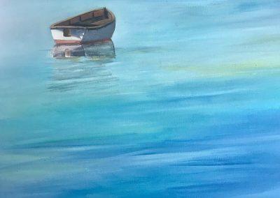 Adrift, Kristy Vantrease, oil, 24x24
