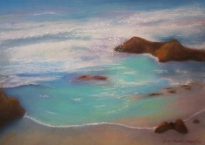 Hues of the Sea, Julianne Martin, pastel