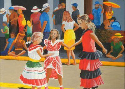 Wilbert Lick, 20x20, Children's Parade at Festival