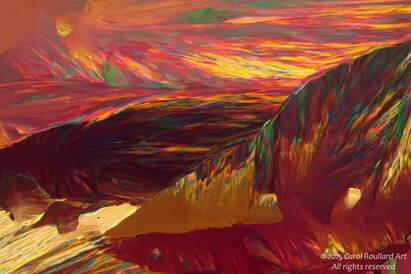 Carol Roullard, Rose Mountains at Sunset, photograph
