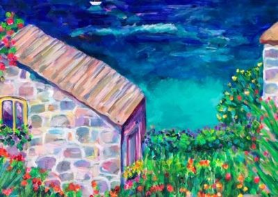 Cottage in Dingle, Sue Slater, Oil on canvas, 24x30