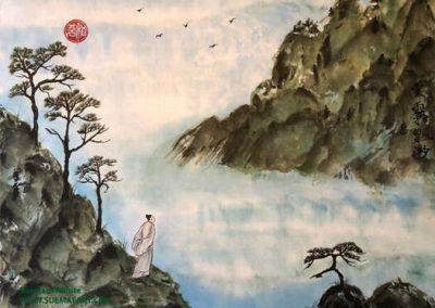 Sage In Ethereal Clouds 雲霧飄渺 (yúnwù piāomiǎo), Suemae Willhite