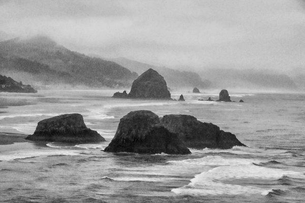 Darlene Roker Oregon Shoreline Morning Photo On Aluminum 16x24 2