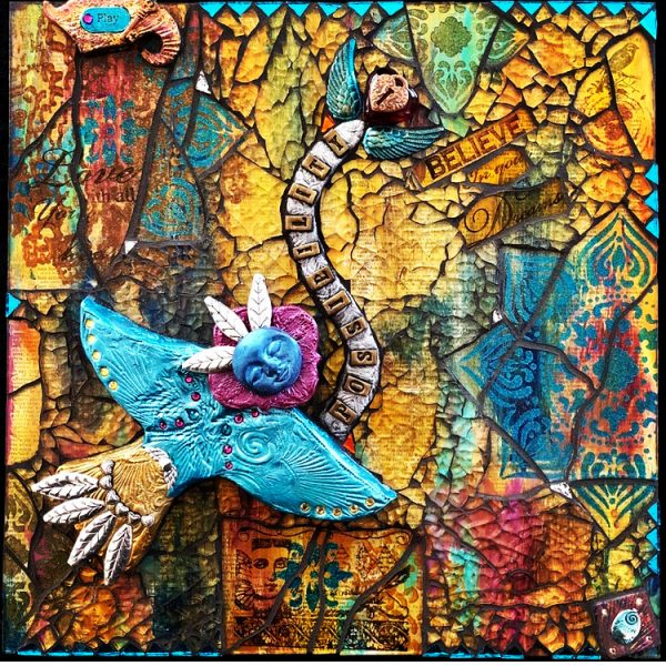 Wendy Brewer Possibility MixedMedia Mosaic 12x12
