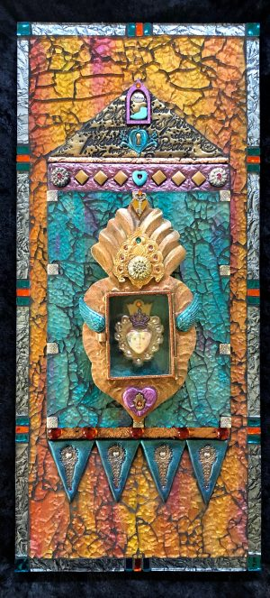 Wendy Brewer The Divine MixedMedia Mosaic 22x10
